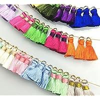 Borlas Colgante Multicolor hecho a mano largo seda fiesta decoraciones, DIY para marcadores, llavero, Earing o ropa y fiesta