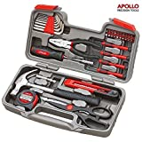 Diy Tools Best Deals - Apollo Precision Tools 39 Piece DIY Home Household Toolkit with Combination Pliers in Box Case- Great Gift