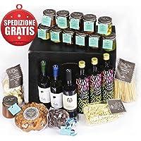 Cesto Natalizio Extra Lusso con un'ampia selezione di Prodotti Tipici Liguri - Regalo Gastronomico- Cesto Gourmet per privati ed aziende