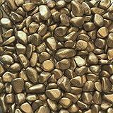Marbles metallic 7-15mm gerundete Dekosteine 1 KG GOLD