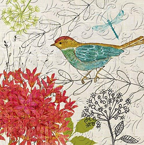 Cypress Home Sketch Floral Geprägt Papier Cocktail Serviette, 20Zählen Dinner Servietten Floral