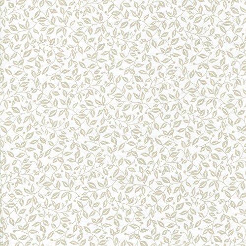 Fabric Freedom Stoff aus der Silhouette-Floral-Kollektion, 100 % Baumwolle, für Patchwork und Steppdecken, abgestimmte Farben und Drucke, Viertelmeterware, beige Beige / Heather (Heather Stoff Beige)
