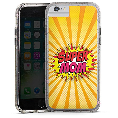 Apple iPhone 8 Bumper Hülle Bumper Case Glitzer Hülle Muttertag Geschenkidee Geschenk Bumper Case Glitzer rose gold