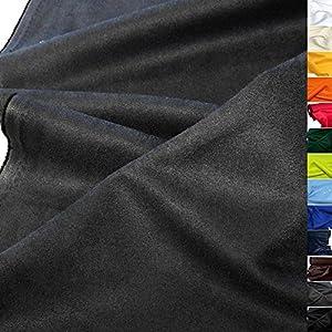 TOLKO weiches Wildleder Alcantara-Imitat als Polsterstoff Meterware | Abriebfester Mikrofaser Bezugstoff/Möbelstoff zum Polstern, Beziehen, Basteln und Dekorieren | 150cm breit (Dunkel-Grau)