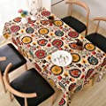 Natur Leinen Baumwolle Tischdecke Sonnenblume bedruckt Tischdecken von rongwen auf Gartenmöbel von Du und Dein Garten
