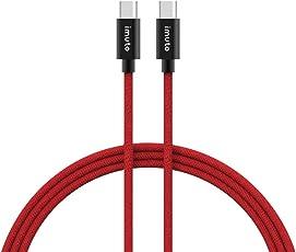 iMuto USB Typ C auf Typ C Kabel Datenkabel, Ladekabel für Nintendo Switch, MacBook, Google ChromeBook Pixel, Nexus 5X, Nexus 6P, Nokia N1 Tablet, OnePlus 2, USB Type-C Geräte und weitere (Rot)