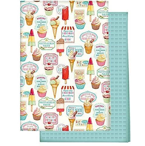Creative Tops 100 Percent Cotton Retro Treats 50's Vintage Style Tea Towels, Set of 2, Multi-Colour