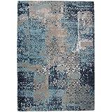 Green Decore armonía algodón chenilla cielo Azul y gris alfombra, 120x 170cm, azul/gris