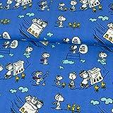 Baumwolljersey Lizenzstoff Flying Peanuts royalblau