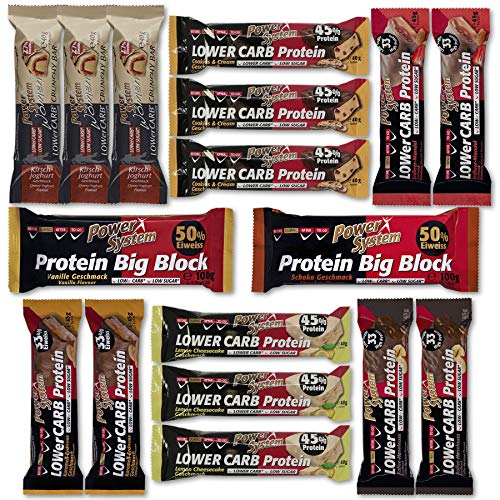 Power System Protein Riegel Box - Big Try Pack (17) - Individuelle Kaffee-pakete