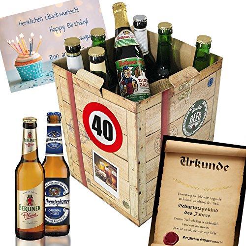Geschenk Ideen zum 40. für Männer - Bier Geschenk Box + gratis Geschenkkarten + Bierbewertungsbogen. Brauerei Eller + Schlappeseppel + Tegernseer + … Bierset + Biergeschenk. Bier Geschenke für Männer. Besser als Bier selber machen oder selbst brauen: Geburtstagsgeschenk Geburtstagsbier geschenkideen für Manner lustige geschenke geburtstagsgeschenk freund 40 zum geburtstag Geschenkideen 40 Männer zum Geburtstag Geschenkideen 40