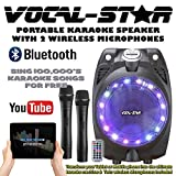 Vocal-Star SP-30 Wireless Karaoke Machine Black Active PA Speaker 2 Wireless Microphones Bluetooth