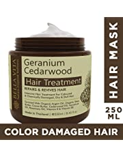 Bella Vita Organic Keratin Hair Repair Cream Mask For Chemically Treated and Colored Hair with Argan, CedarWood & Geranium,No Sulfates, No Parabens, 250 ml