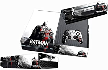 Elton Batman Arkham City Theme Skin Sticker Cover for Xbox One Console, Kinect & Controllers