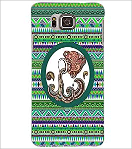 PrintDhaba Tribal Pattern D-3013 Back Case Cover for SAMSUNG GALAXY ALPHA (Multi-Coloured)