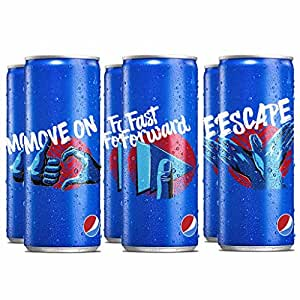Pepsi Soft Drink Can, 250ml (Pack of 6)