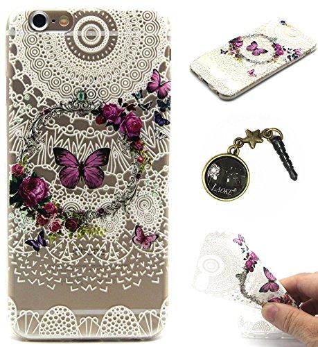 TPU Silikon Schutzhülle Handyhülle Painted pc case cover hülle Handy-Fall-Haut Shell Abdeckungen für Smartphone Apple iPhone 6 6S+Plus (5.5 Zoll)+Staubstecker (Q13) 1