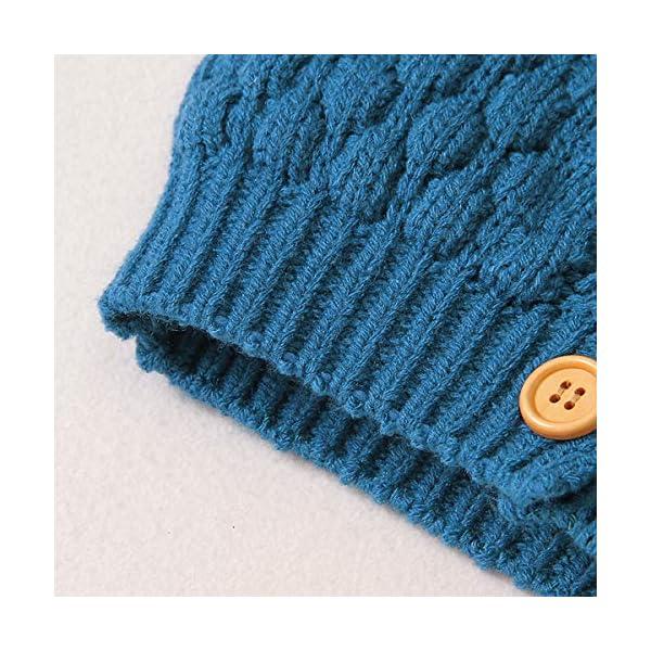 Tianhaik Bebé bebé de Punto de Ganchillo Abrigo Chaqueta con Capucha Outwear otoño Invierno suéteres Cardigan 5