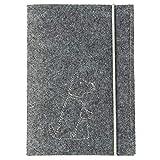 Animal de compañía ausweis móvil | Fieltro, bordado, cierre de goma (Color & Stick Diseño a elegir), color gris Hund