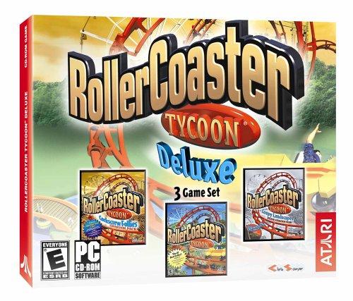 Preisvergleich Produktbild RollerCoaster Tycoon Deluxe: RollerCoaster Tycoon / Loopy Landscapes / Corkscrew Follies by Atari
