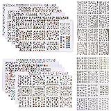 Zibuyu Nail Arts Nail Sticker 3D Acrylic Stickers Manicure Nail Diy Decals Wraps
