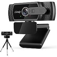 Liraip 1080P HD Webcam mit Mikrofon Webcam Datenschutzabdeckung,Stativ,Laptop,Computer,Desktop Plug & Play Webkamera für…