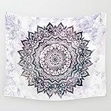 Goldbeing indischer Wandteppich Wandbehang Mandala Tuch Wandtuch Gobelin Tapestry Goa Indien Hippie-/ Boho Stil als Dekotuch /Tagesdecke indisch orientalisch psychedelic (203 x 153cm, Style 6)