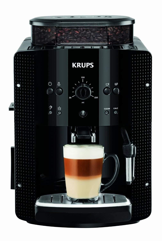 Krups EA8108 Kaffeevollautomat mit Milchsystem und CappucinoPlus-Düse, schwarz