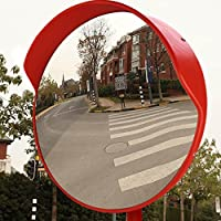 LAOYE Specchio Convesso Specchio Traffico Infrangibile 45cm Sorveglianza Specchio Parabolico Specchio Osservazione Specchio Panoramico per la Sicurezza Stradale e Negozio con Staffa di Fissaggio Regolabile