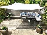 Clara Sonnensegel Sonnenschutz Segel, hochwertig, 95% UV-Schutz, wasserfest, Reinweiß, Baldachin, für Terrasse Außenbereich Innenbereich (Square 3.6m)