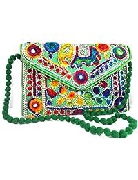 Trendy Stylist Latest Women's , Girls Rajasthani Jaipuri Art Satchel Bag Mirror Work Bag Shopping Bag Money Bag...