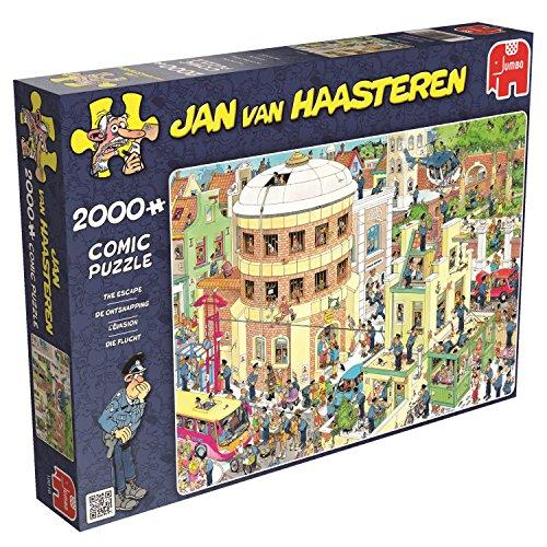 Jumbo 19016 - Jan Van Haasteren - Die Flucht, 2000 Teile Puzzle