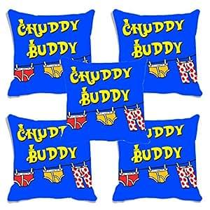 meSleep Chuddy Buddy Friendship Day Cushion (With Filler) - Set of 5
