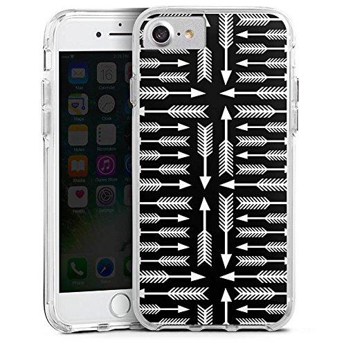 Apple iPhone 6 Plus Bumper Hülle Bumper Case Glitzer Hülle Pfeile Arrow Wegweiser Bumper Case transparent