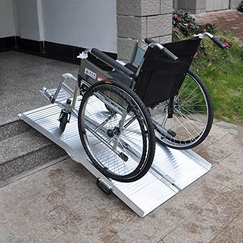 61YXXtqNN7L - Rampa sillas Ruedas 2X 213cm 270kg Plegable Aluminio Coche Acceso vehículo transportable portátil