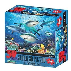 Howard Robinson hr10804Super 3D Reef Tiburones Puzzle (Set)