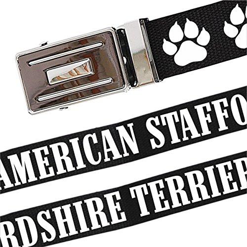 Gürtel mit Spruch American Staffordshire Terrier stufenlos verstellbar bis 140 cm Lang -