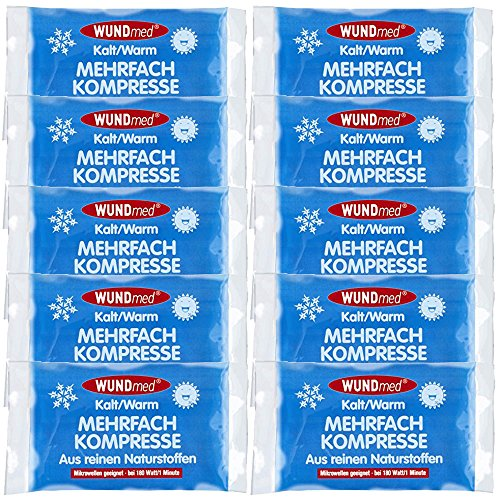 10 x Mehrfach-Kompresse Kompressen kalt/warm (8,5 x 13 cm)