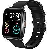Smartwatch, KUNGIX Orologio Fitness Donna Uomo Activity Tracker impermeabile IP68 con Delle Contapassi Cronometro Messaggi Co