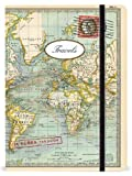 World Map Large Lined Notebook