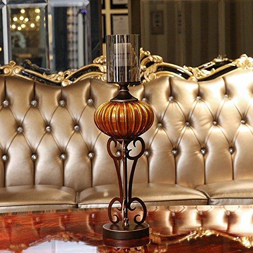 Fkduih Amerikanischer Luxus Glas Kerzenhalter Kürbis Ornamente romantisches Candlelight-Dinner Tabelle xunlight eingerichtet, (Halloween Candleabra)
