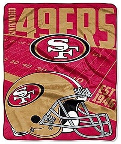 NFL San Francisco 49ers Grande surdimensionné 62en X 90en super Jeté de lit en peluche