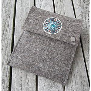 zigbaxx Tablet Hülle MAROC Case Sleeve Filz u.a. für iPad Air Air2, iPad 9.7, iPad Pro 9.7, iPad Pro 10.5 / iPad mini 2/3/4 – 100% Wollfilz – braun / beige / grau – Geschenk Weihnachten Geburtstag