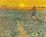 Stampa su Tela Canvas Van Gogh, Il Seminatore (1888) 50x70cm Senza Telaio