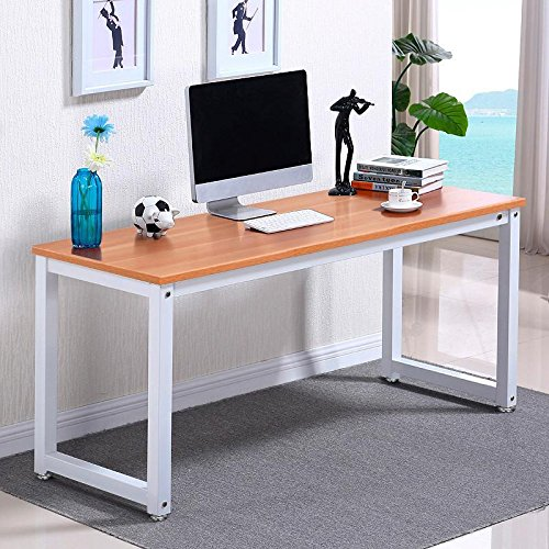 beyondfashion-quality-simple-metal-corner-computer-pc-table-home-office-writing-desk-brown