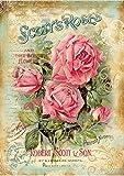 Reispapier A4 - Scotts Roses, Motiv-Strohseide, Strohseidenpapier, Decoupage Papier