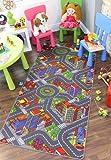 Leuchtend farbenfroh Stadt Verkehr Straßenteppich Spielteppich für Kinder - Verfügbar in 3 Größen