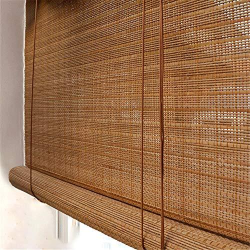 Persianas de bambú de la Puerta Cortina de Madera persiana Enrollable persianas enrollables Decoración del hogar persianas de bambú Natural Exterior persianas de bambú de la lumbrera,color1 100x200cm