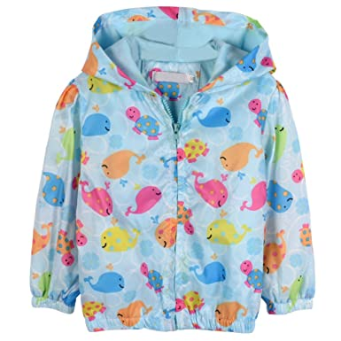 896e9dd311c27 Loveble Kids Girls Autumn/Spring Ink Floral Printing Hoodie Jacket  Windbreaker Sunscreen Jacket Age 2-7 Years: Amazon.co.uk: Clothing