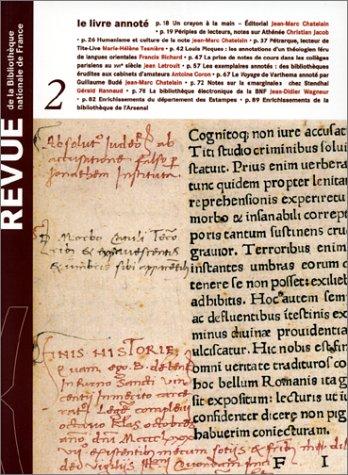 Revue de la Bibliothèque nationale de France, tome 2 : le livre annoté par Collectif